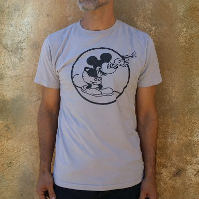 Men's Retro Round Mickey Gray