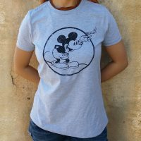 "Women""s Round Mickey Heather Gray"