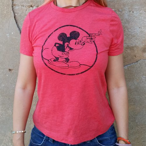 "Women""s Round Mickey Heather Red"