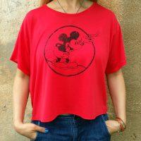 "Women""s Round Mickey Heather Red Flowy"