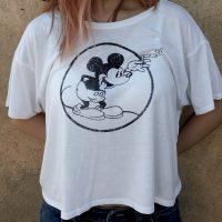"Women""s Round Mickey Heather White Flowy"