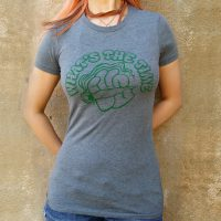 Women's What's The Time Heather Gray T'Shirt.