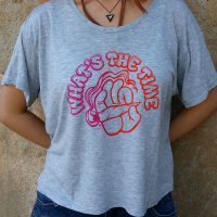Women's What's The Time Gray Flowy T'Shir